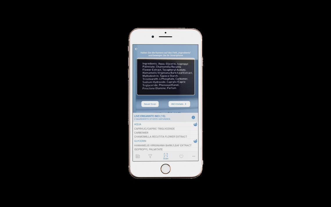 COSMILE-App mit zusätzlicher Funktion – INCI-Erkennung über OCR